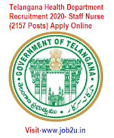Telangana Health Department Recruitment 2020, Staff Nurse
