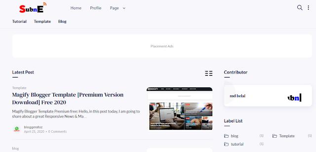 fletro pro blogger template