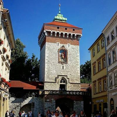 Puerta de San Florian en Cracovia