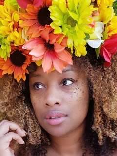 woman with flower headpiece - ChristalNicole