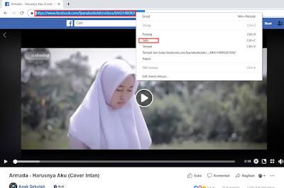 cara menyimpan video facebook lite ke galeri