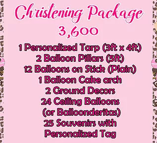 Christening Package 3,600
