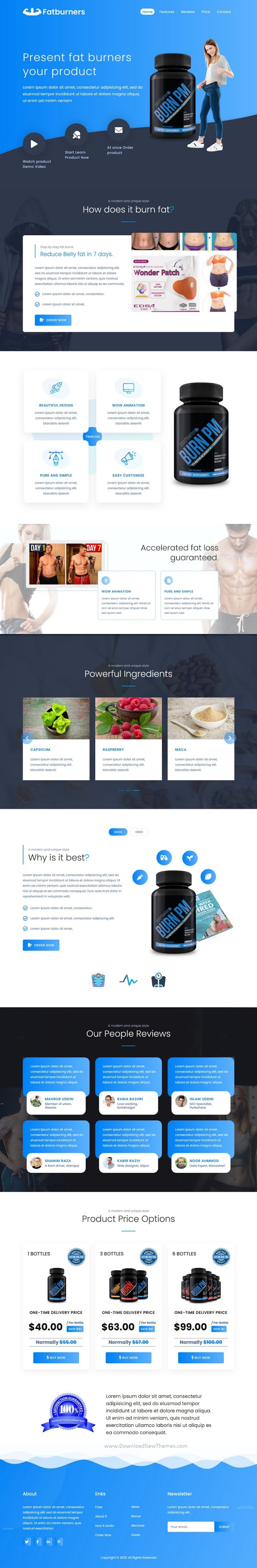 Best Health Weight Loss Supplement Landing Page