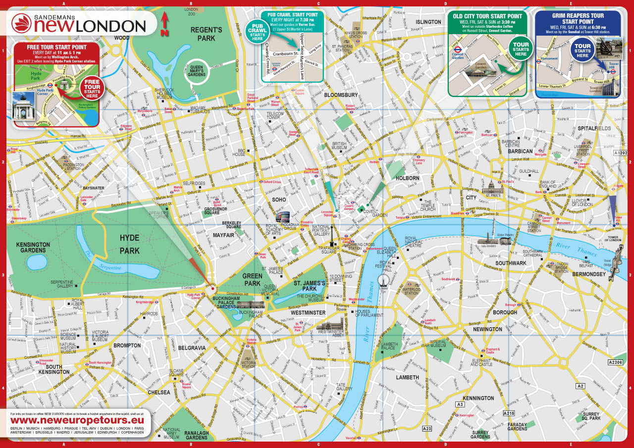 london city map free england