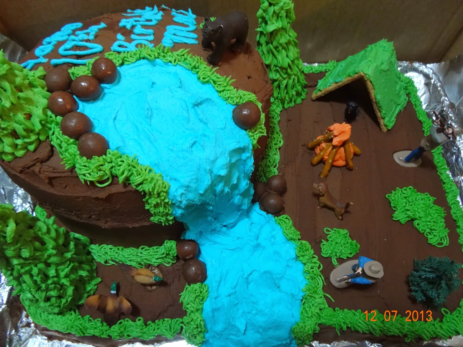 Mountain Of Grace Homeschooling Hunting Birthday Cake