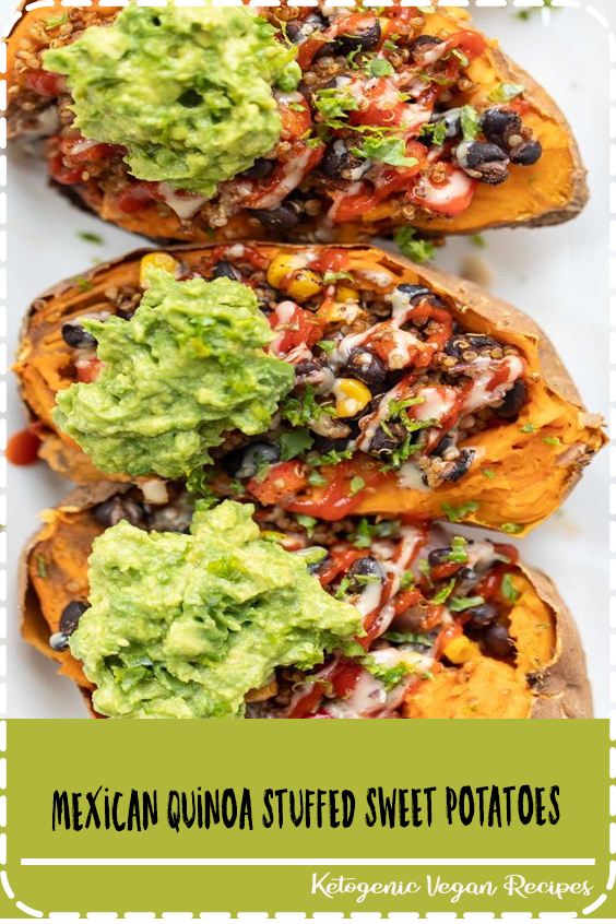 This recipe for Mexican Quinoa Stuffed Sweet Potatoes is an amazing way to pack in a ton of plant-based protein in a tasty, gluten-free and simple meal!