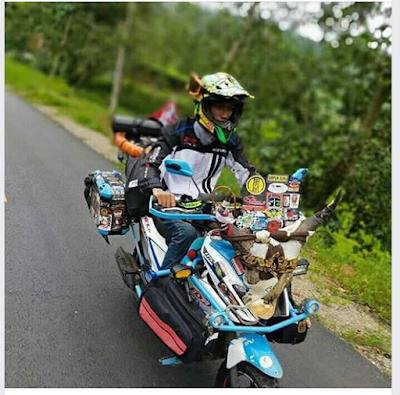 Mantul!!! Rider Suzuki Nex Ini Sudah Jelajahi 34 Provinsi Indonesia