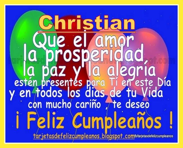 Cristian Feliz Cumple Primo Wwwimagenesmycom