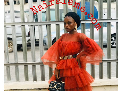 Ibadan People Said This Lady Outfit Looks Like The One of Masquerade. PHOTOS