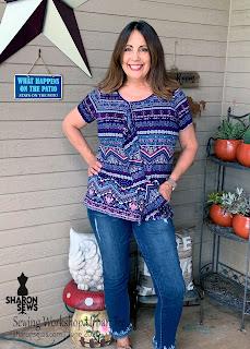 The Sewing Workshop Urban T-shirt on Sharon Sews