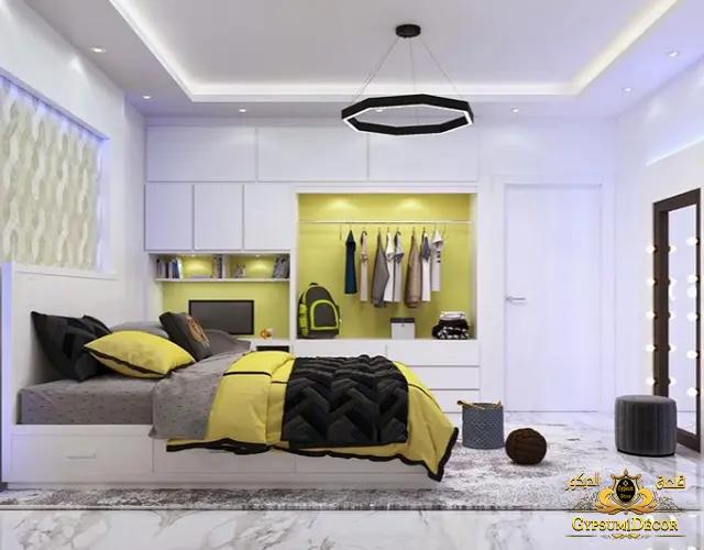 أفضل ديكورات غرف نوم مع السرير