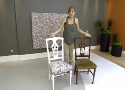 como tapizar una silla de madera que no se desmonta