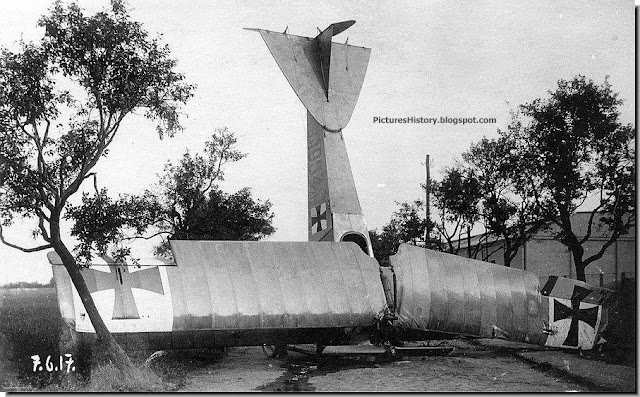 Crashed German warplane