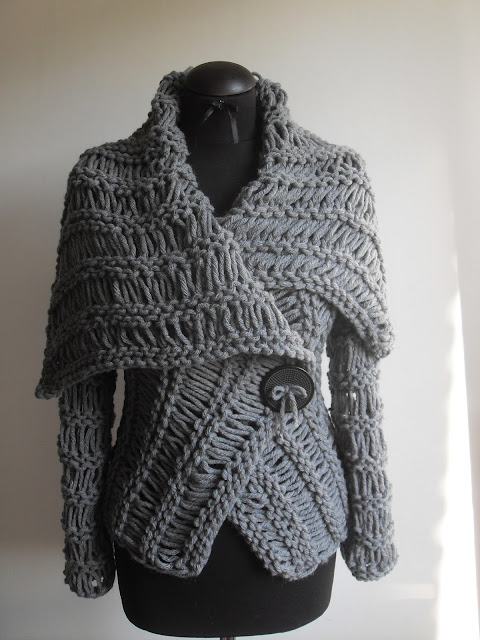 Divna S Sweaters Grey Sweater Handmade Knitted Unique