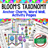 Bloom's Taxonomy, Depth of Knowledge, DOK Anchor Charts, Word Wall, Activity Pages