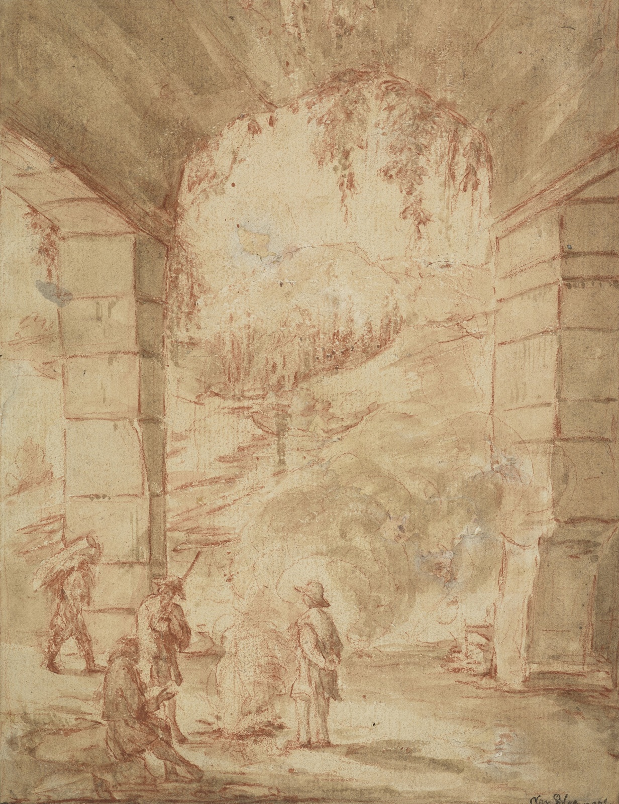 Spencer Alley: Italianate Drawings by Nicolaes Berchem