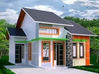 tampak depan rumah3 kamar tidur 1 mushola dan garasi