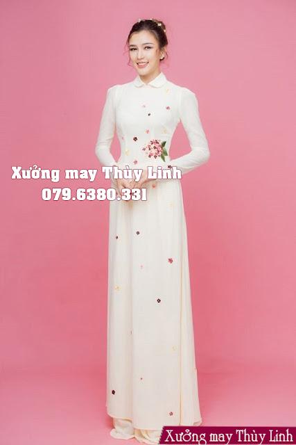 áo dài cưới thêu tay