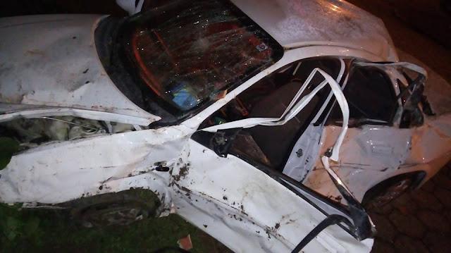 Assaltantes sofrem acidente em Itaiópolis