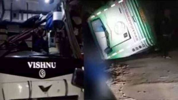 News, National, India, Bangalore, Bus Collision, Dies, Hospital, KSRTC, Again Bus Accident at Mysore