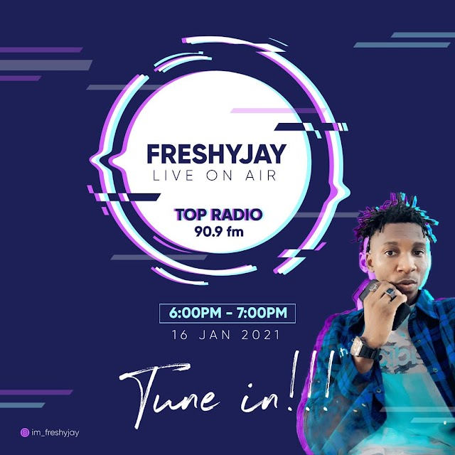 Freshy Jay LIVE ON AIR TOP RADIO 90.9FM