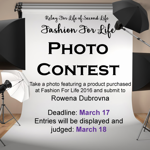 Fashion For Life 2016 Photo Contest - You Could WIN!