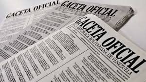 Oficializan Nuevos decretos en Gaceta Nº 40.826 12 de enero de 2016