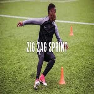 9- Zigzag Sprint: