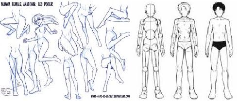 A B C Do Desenho Modelos De Corpo De Anime 3