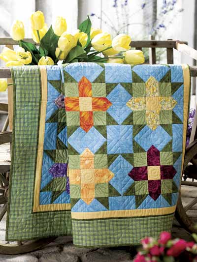 Garden Stars Quilt Free Pattern