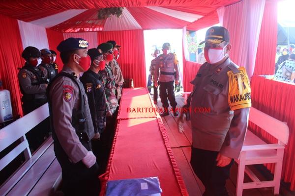 Wakapolda Kalteng Kunjungi Pos Pengamanan Ketupat Telabang 2020 Polres Seruyan