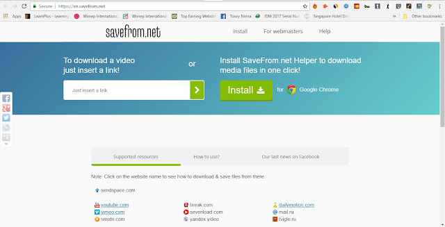 Savefrom .net Youtube Video Downloader