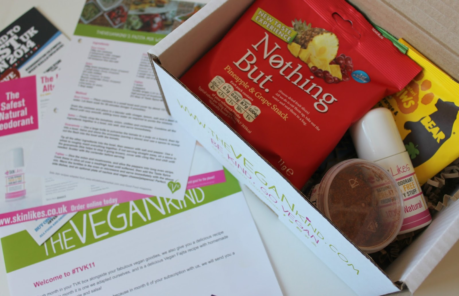 A picture of the September The Vegan Kind Box