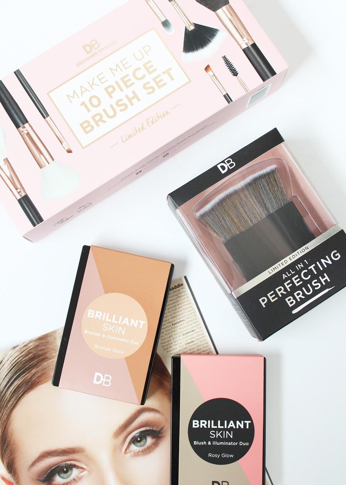 DESIGNER BRANDS   Rose Gold Brush Set + Brilliant Skin Palettes - CassandraMyee