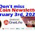 OneCoin Newsletter, February 3rd, 2020