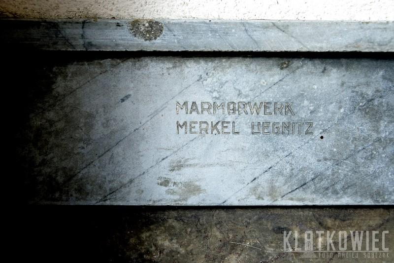 Legnica. Marmorwerk Merkel Liegnitz.