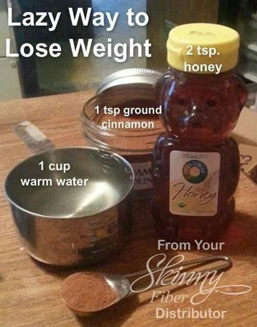 Lazy Way to Lose Weight: Cinnamon, Honey, and Wate