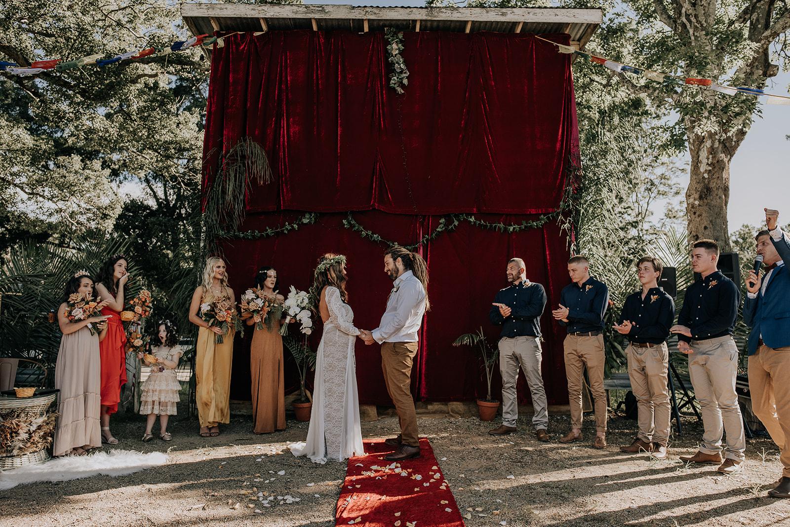LOVE STORY: KASEY + TRENT   WEDDING FESTIVAL VIBES MULLUMBIMBY NSW