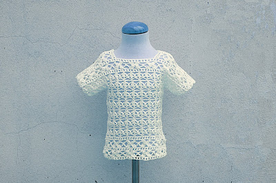 4 - Crochet Imagen Blusa blanca a crochet y ganchillo por Majovel Crochet
