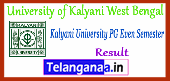 Kalyani University MA M.Sc M.Com PG 2nd 4th Semester Result 2018