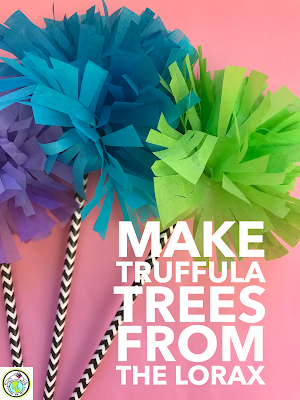 Make Truffula Trees for Dr Seuss Read Across America in FLES Spanish French