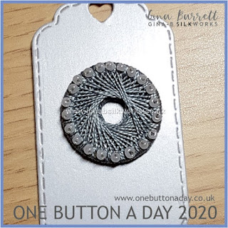 One Button a Day 2020 by Gina Barrett - Day 16 : Freeze