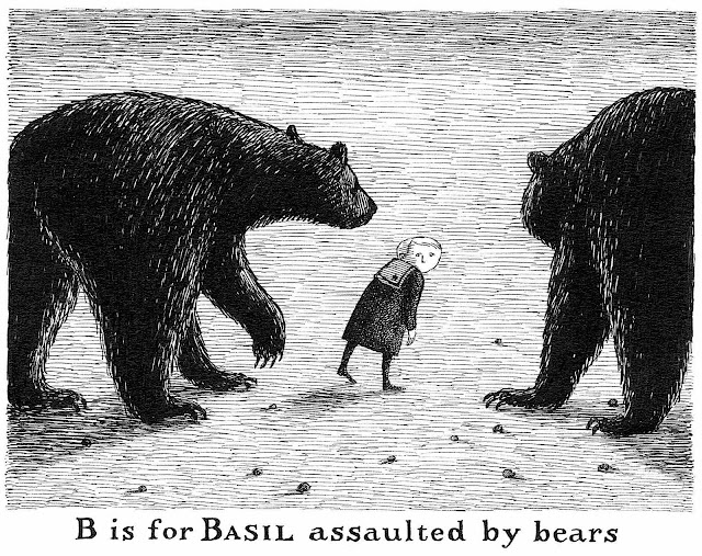 B is for Basil assaulted by bears, by Edward Gorey