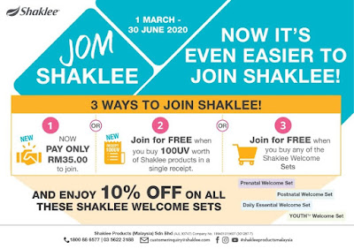 Promosi Welcome Set Shaklee Mac - Jun 2020