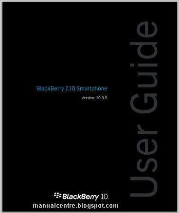 BlackBerry Z10 Manual Cover