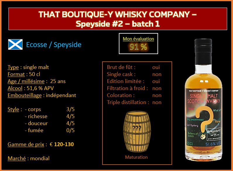 Review #823 : That Boutique-Y Whisky Company – Speyside #2 - batch 1