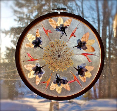 diy pressed flower sun catcher