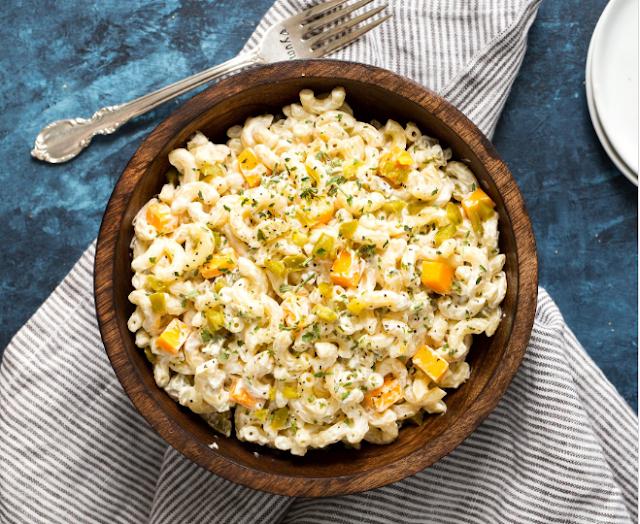 Jalapeno Popper Macaroni Salad #lunch #dinner