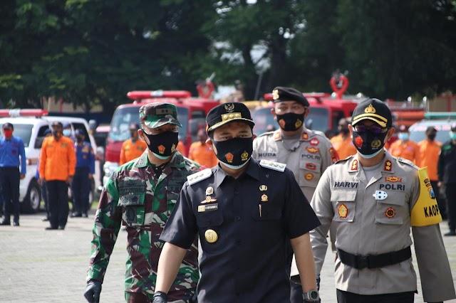 Polres Nganjuk Laksanakan  Gelar Pasukan Ops Lilin Semeru 2020 Jelang perayaan Natal  dan Tahun baru