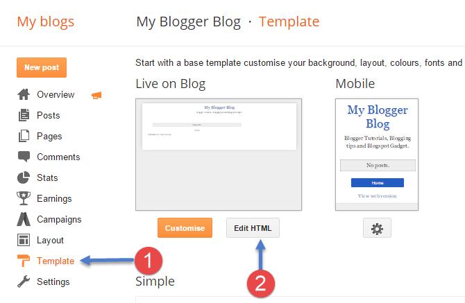 Cara Menampilkan Judul Posting Pertama Sebelum Judul Blog Blogger Di Hasil Pencarian